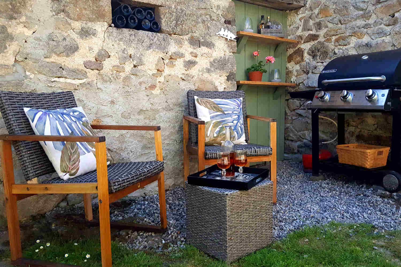 BBQ avec chaises